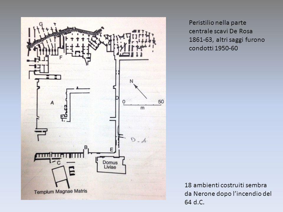Peristilio nella parte centrale scavi De Rosa 1861-63, altri saggi furono condotti 1950-60