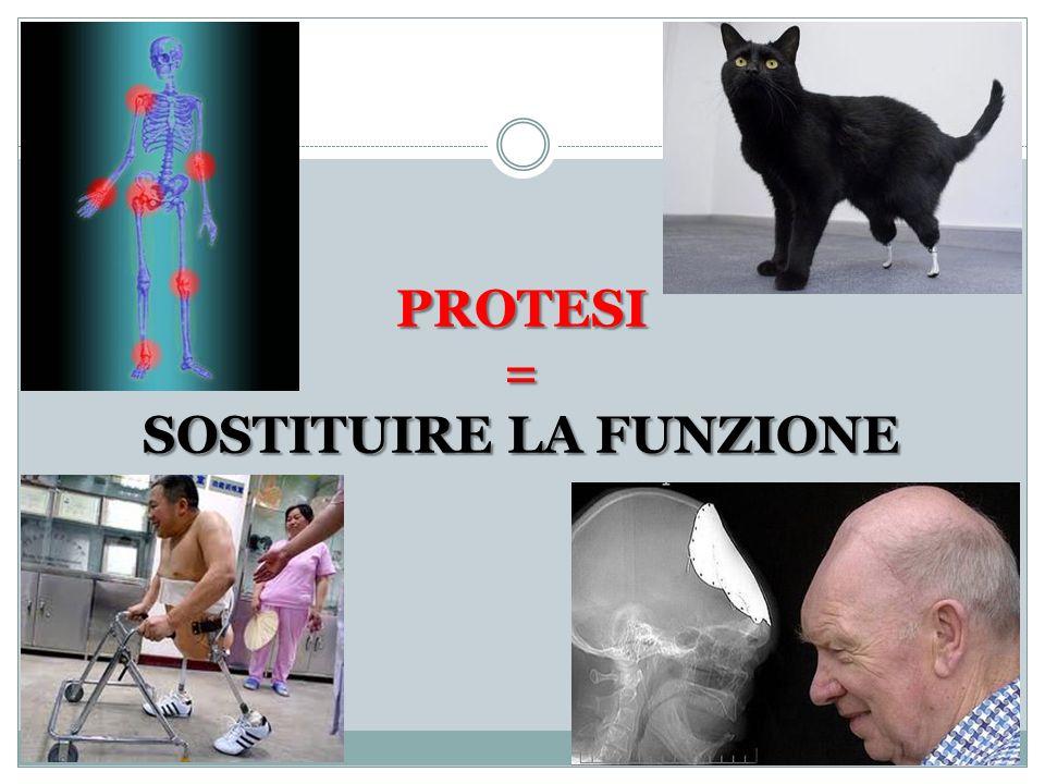 PROTESI = SOSTITUIRE LA FUNZIONE
