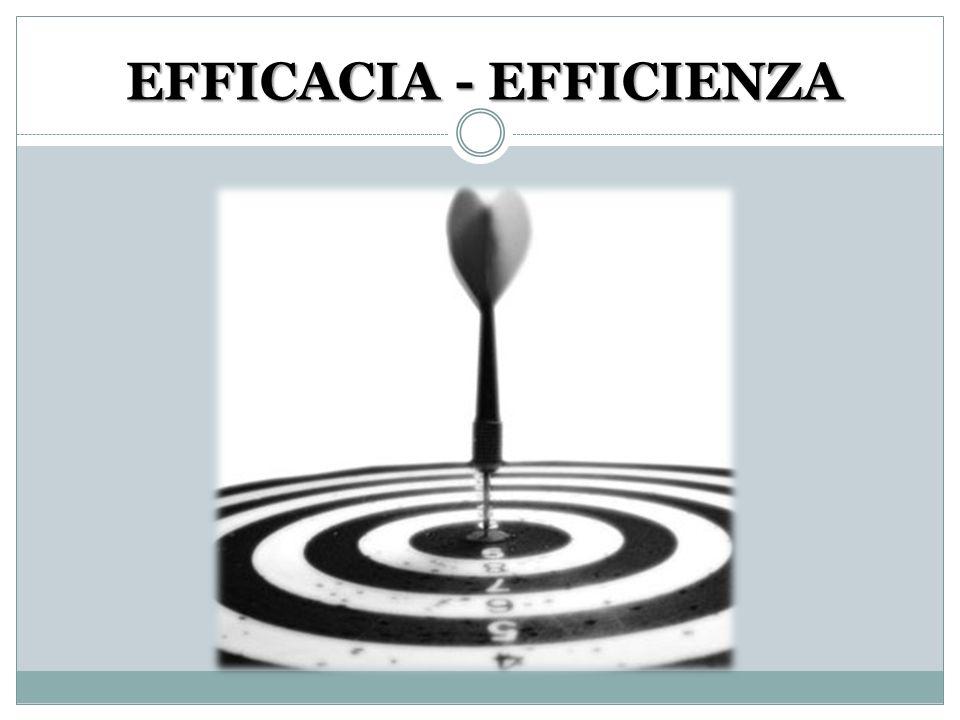 EFFICACIA - EFFICIENZA