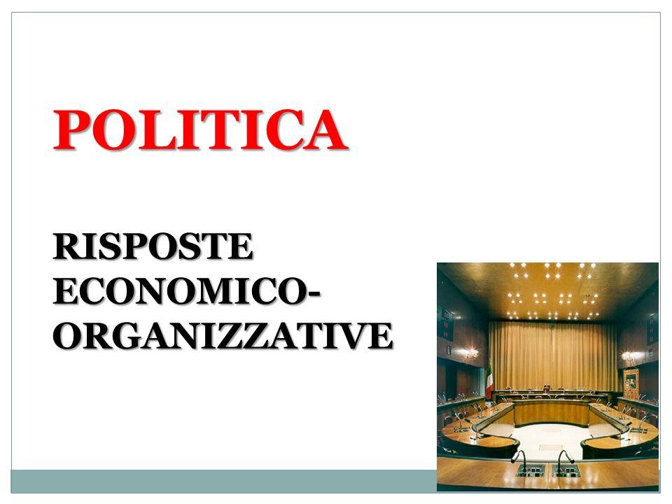 POLITICA RISPOSTE ECONOMICO-ORGANIZZATIVE