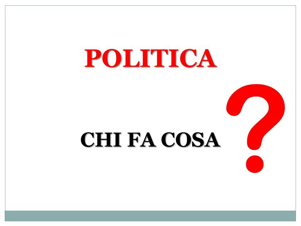 POLITICA CHI FA COSA