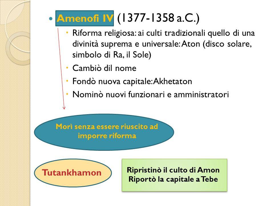 Amenofi IV (1377-1358 a.C.)