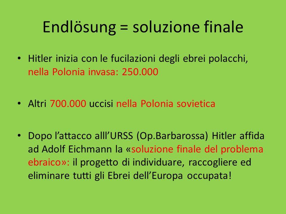 Endlösung = soluzione finale
