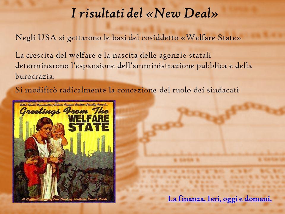I risultati del «New Deal»