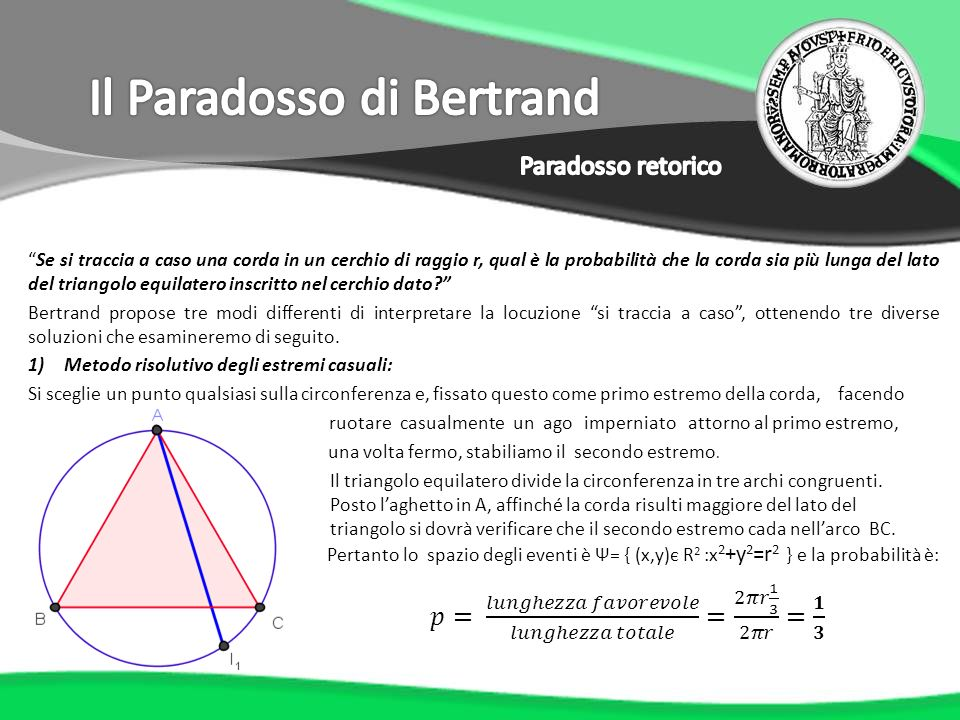 Il Paradosso di Bertrand