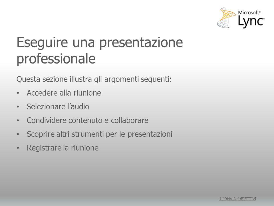 Eseguire una presentazione professionale