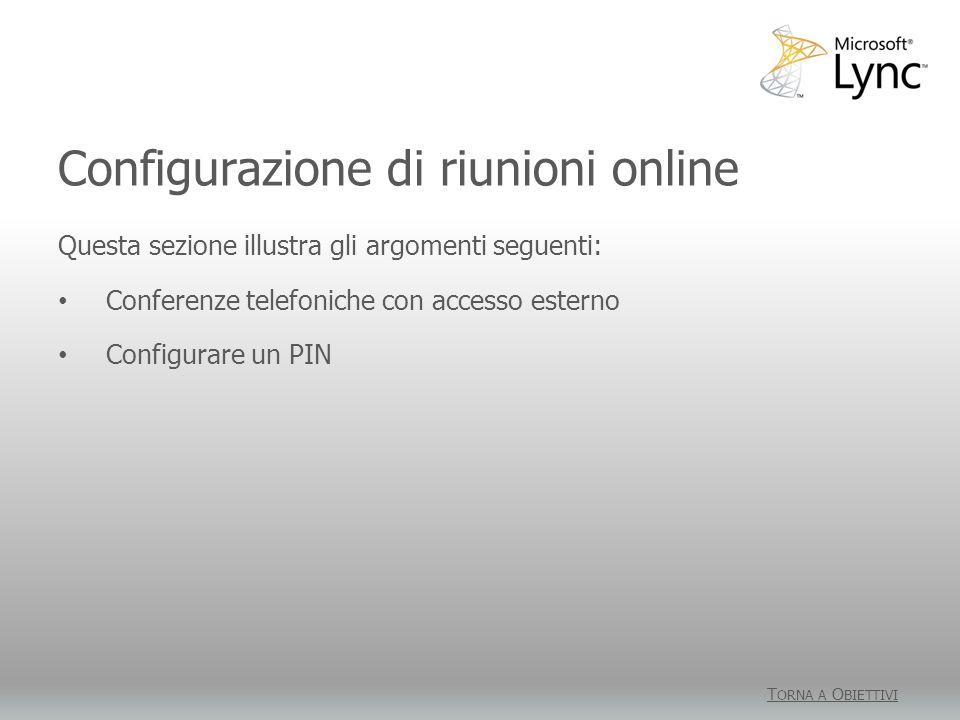 Configurazione di riunioni online