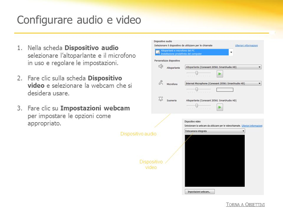 Configurare audio e video