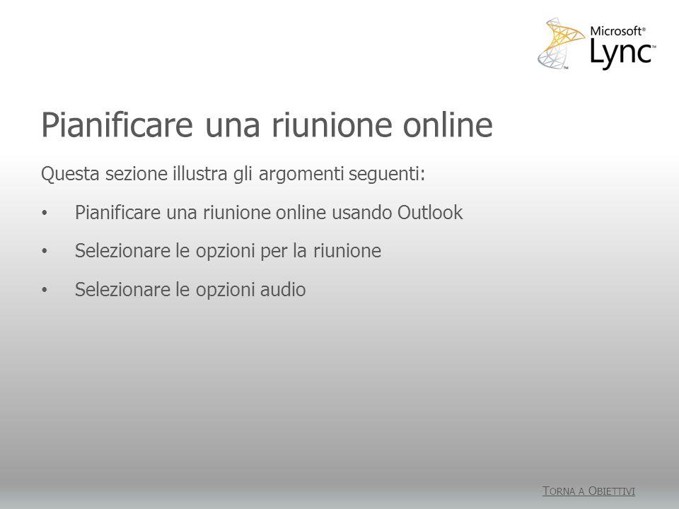 Pianificare una riunione online
