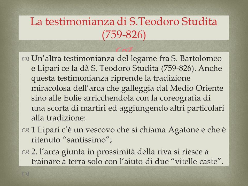 La testimonianza di S.Teodoro Studita (759-826)