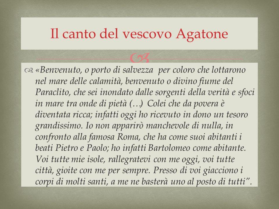 Il canto del vescovo Agatone