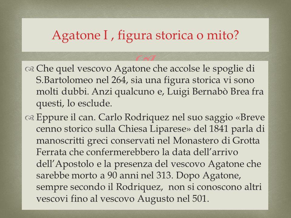 Agatone I , figura storica o mito