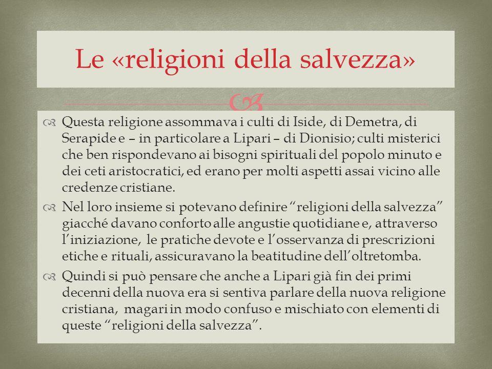 Le «religioni della salvezza»