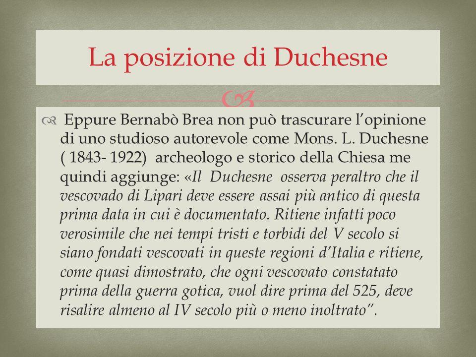 La posizione di Duchesne