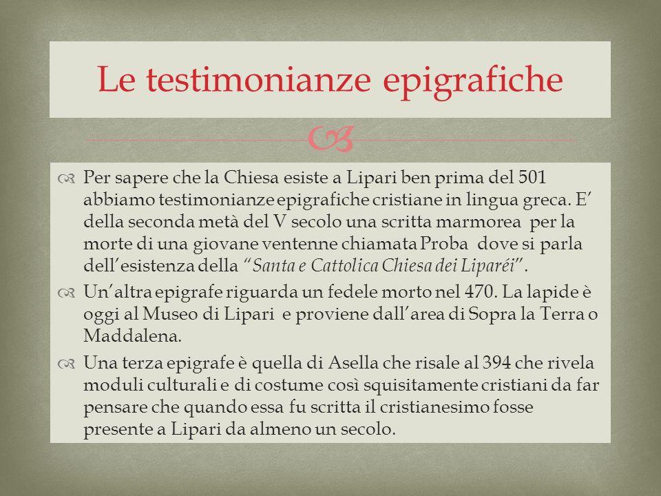 Le testimonianze epigrafiche