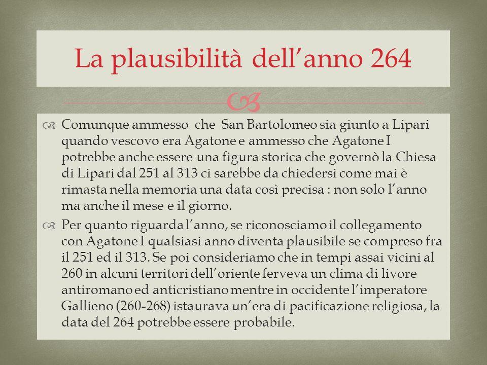 La plausibilità dell'anno 264