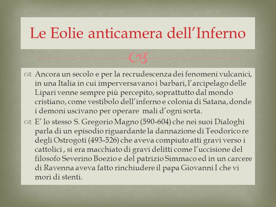 Le Eolie anticamera dell'Inferno