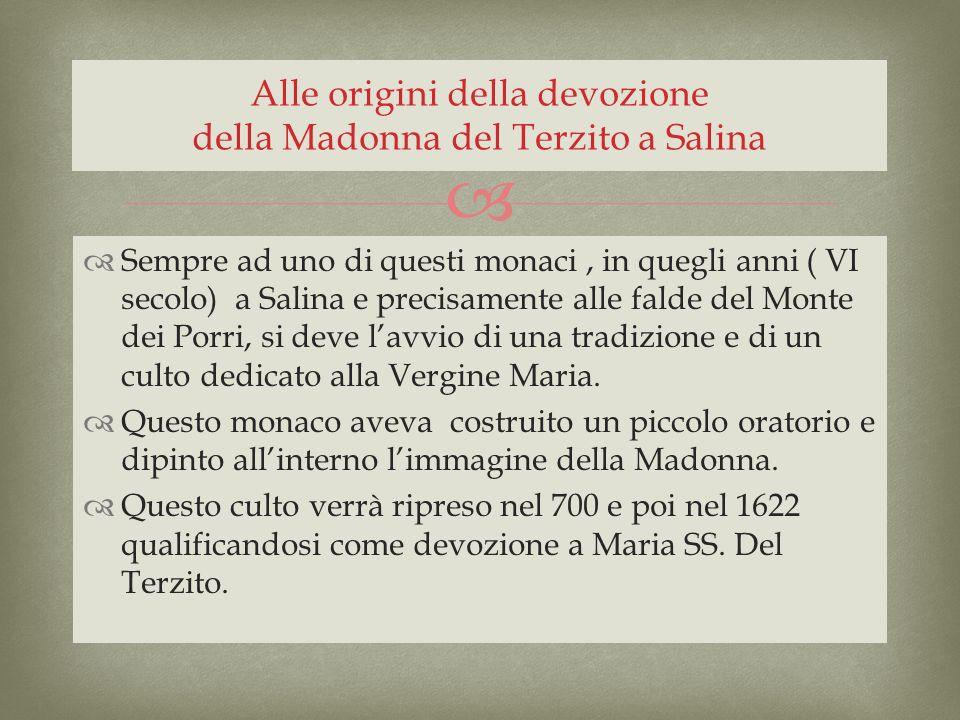 Alle origini della devozione della Madonna del Terzito a Salina