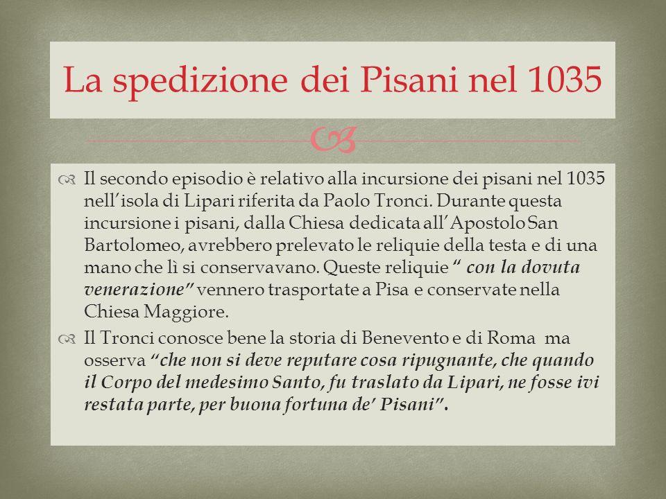 La spedizione dei Pisani nel 1035