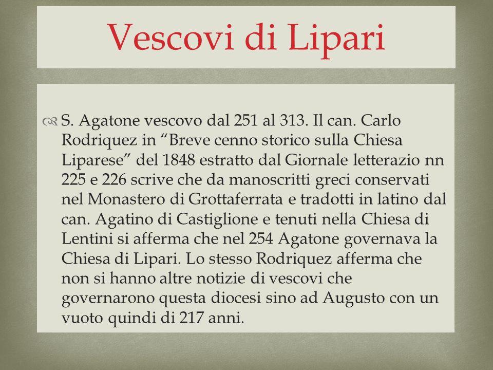 Vescovi di Lipari