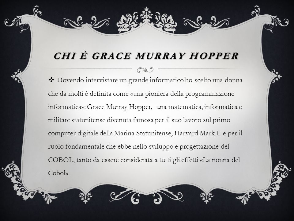 Chi è grace murray hopper