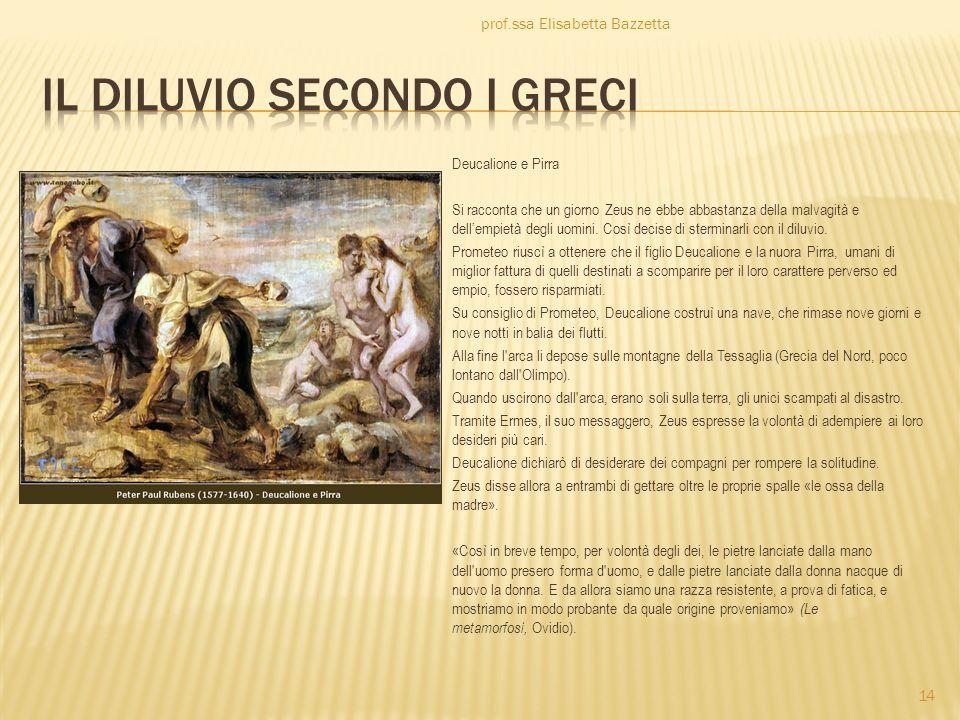 Il diluvio secondo i greci