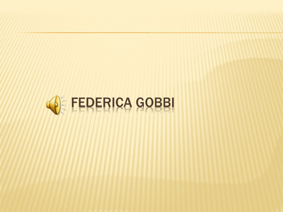 Federica gobbi
