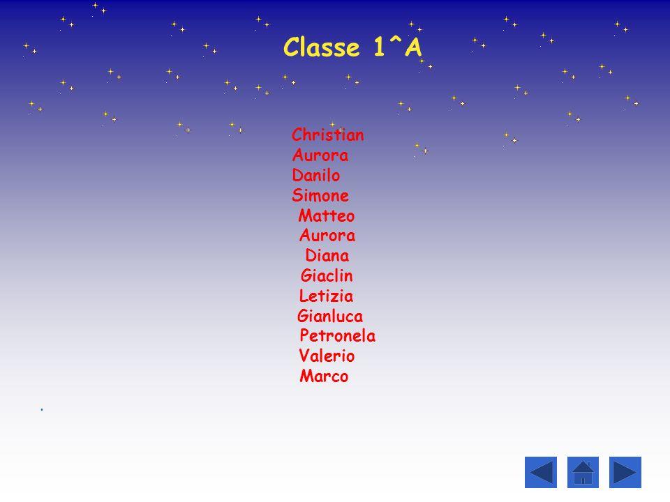 Classe 1^A Christian Aurora Danilo Simone Matteo Diana Giaclin Letizia