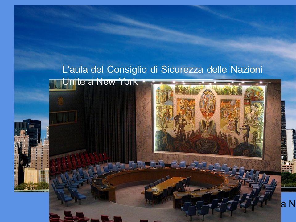 L aula del Consiglio di Sicurezza delle Nazioni Unite a New York