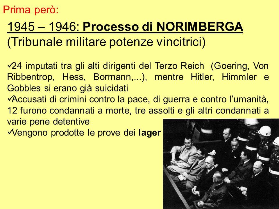 1945 – 1946: Processo di NORIMBERGA
