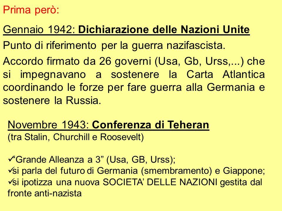 Gennaio 1942: Dichiarazione delle Nazioni Unite