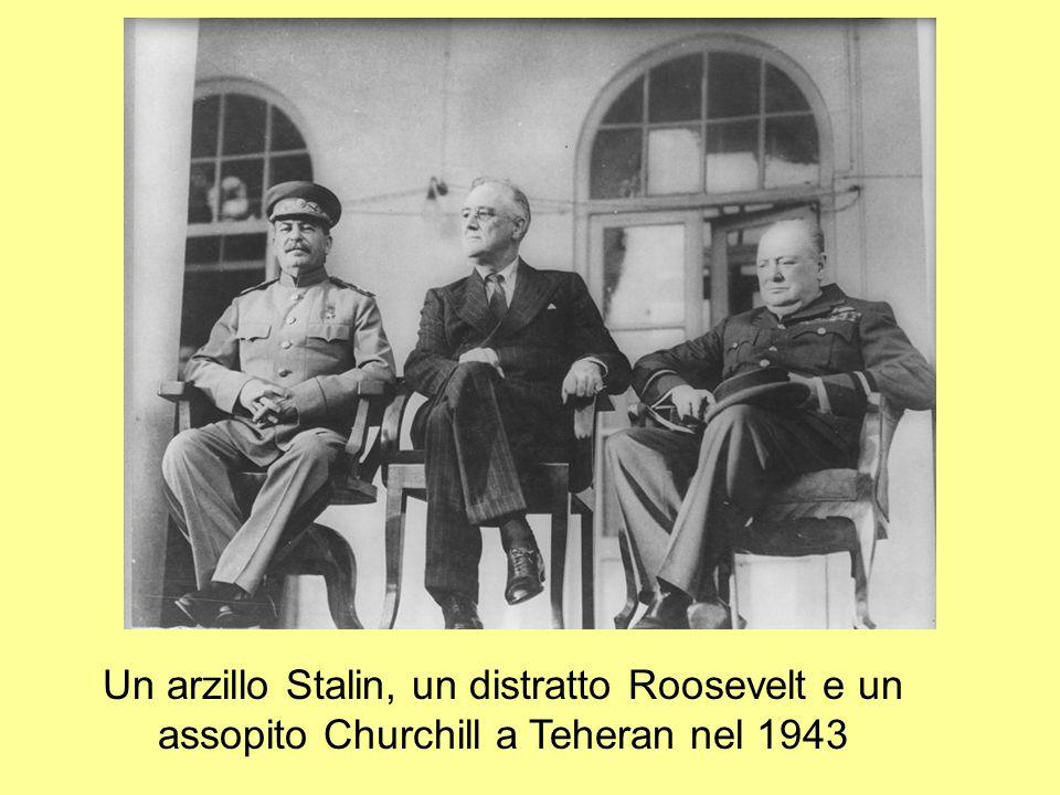 Un arzillo Stalin, un distratto Roosevelt e un assopito Churchill a Teheran nel 1943