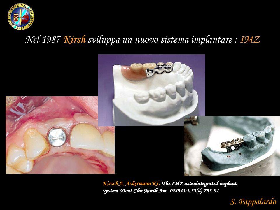 Nel 1987 Kirsh sviluppa un nuovo sistema implantare : IMZ
