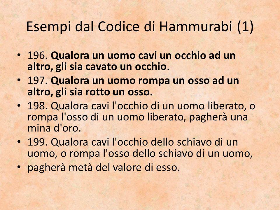 Esempi dal Codice di Hammurabi (1)