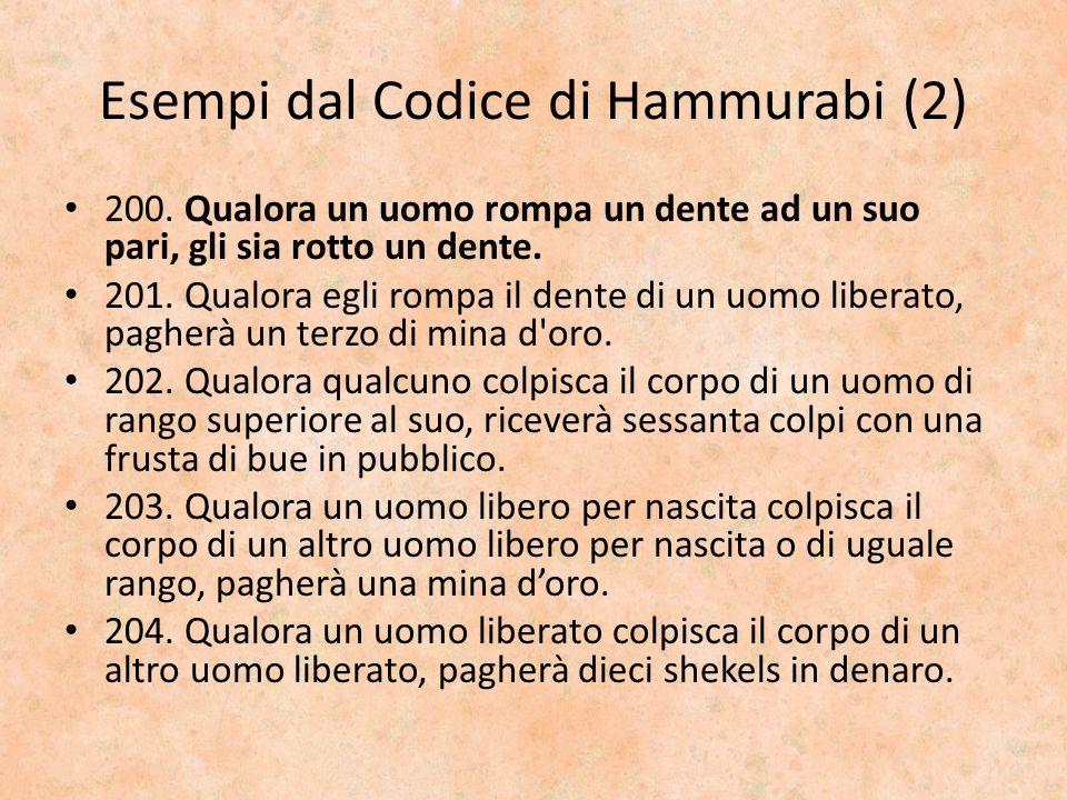 Esempi dal Codice di Hammurabi (2)
