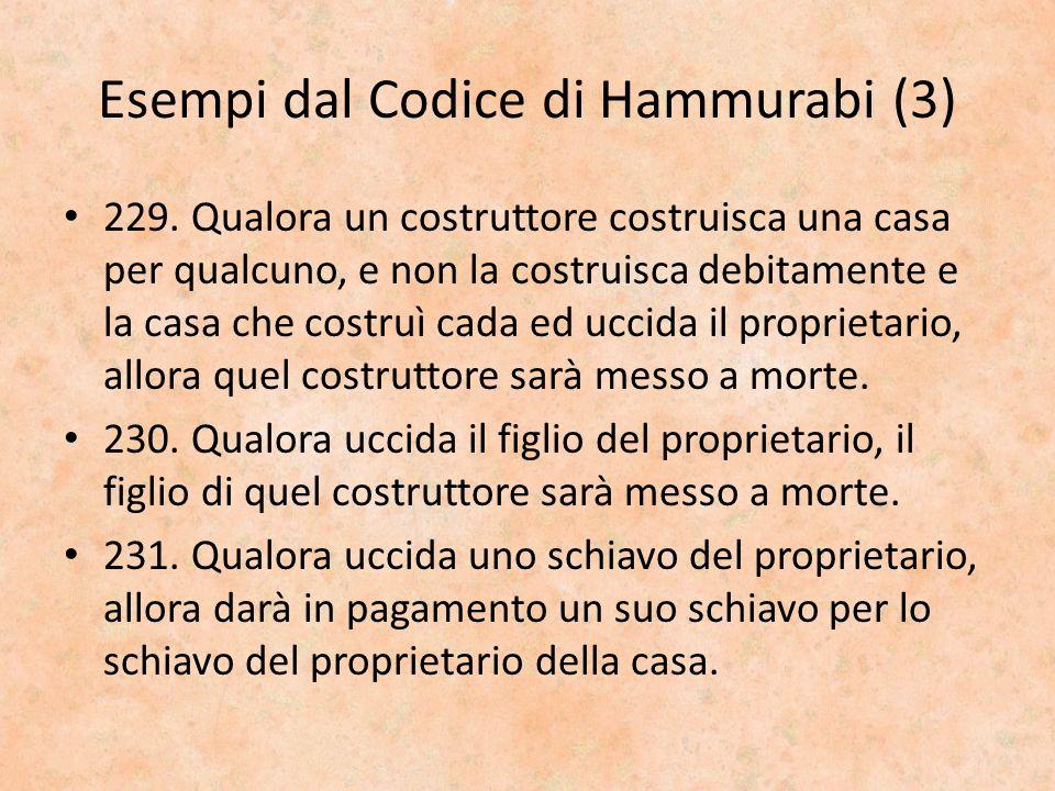 Esempi dal Codice di Hammurabi (3)