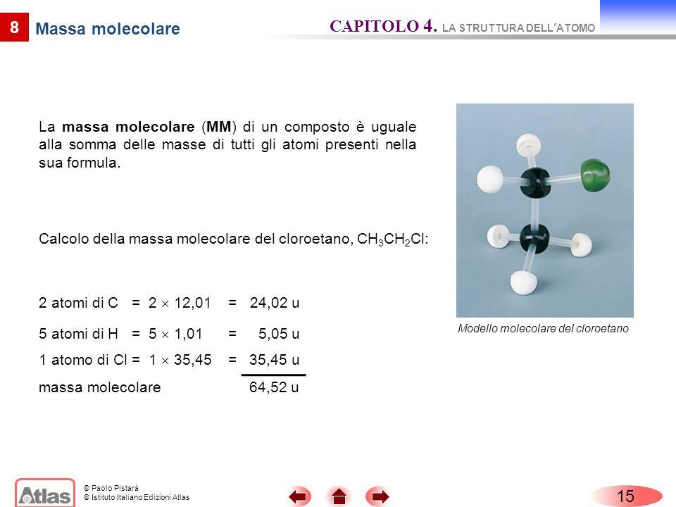CAPITOLO 4. LA STRUTTURA DELL'ATOMO Massa molecolare