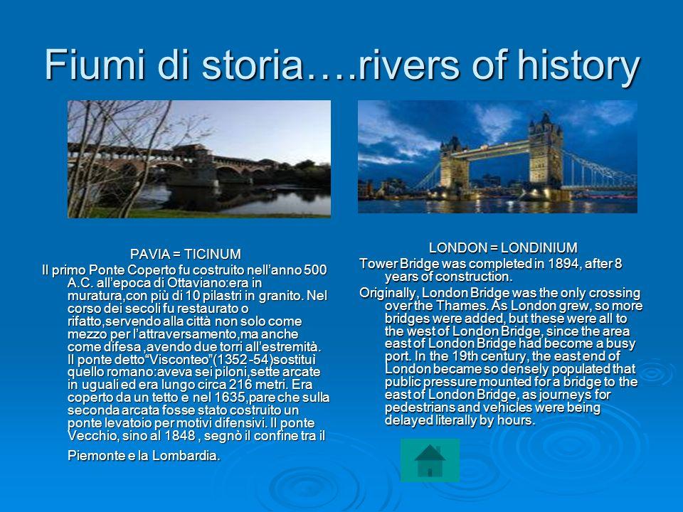 Fiumi di storia….rivers of history