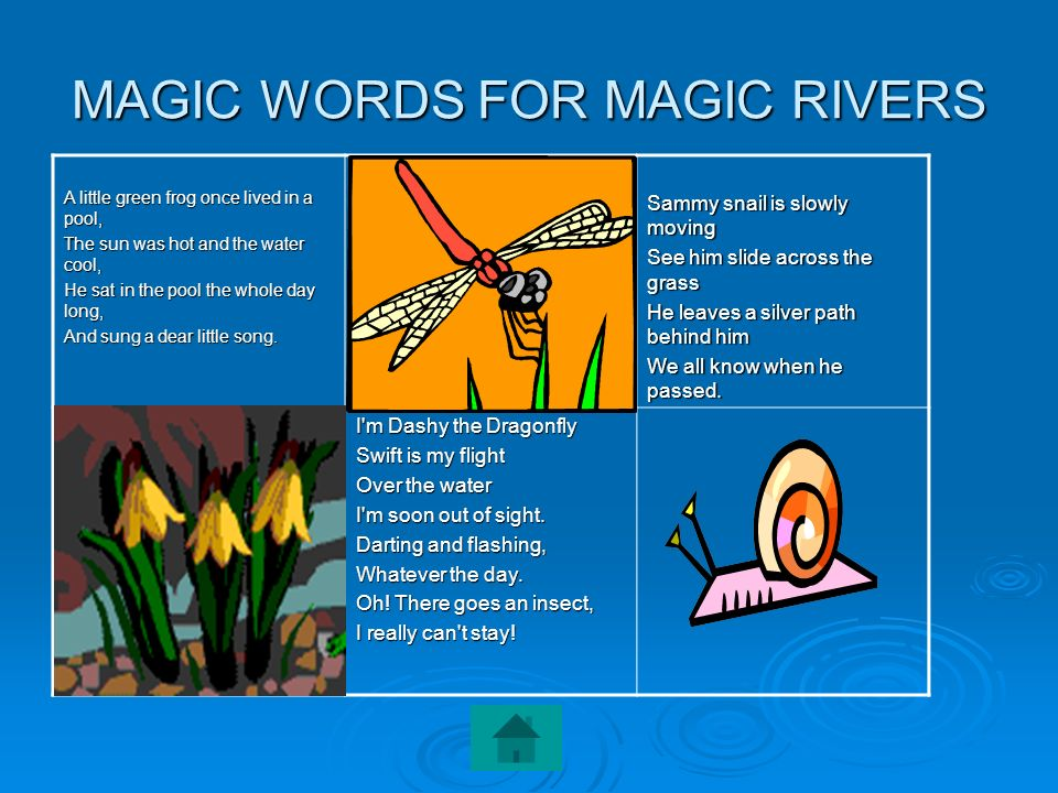 MAGIC WORDS FOR MAGIC RIVERS