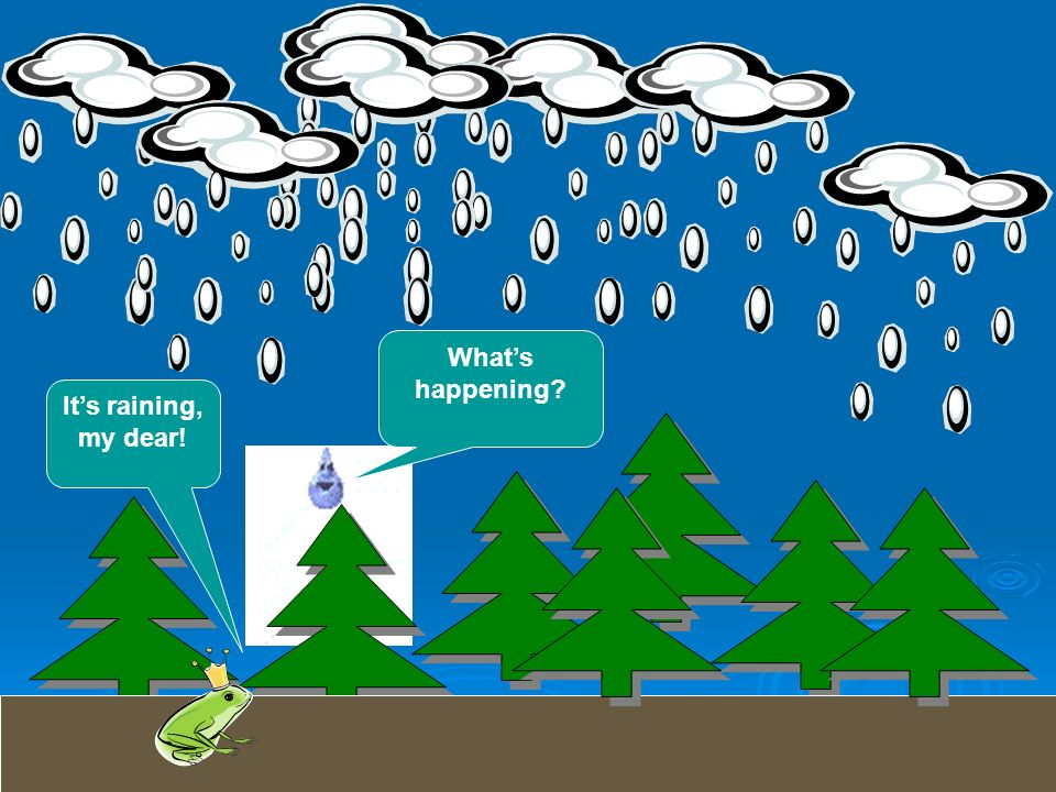 What's happening It's raining, my dear!