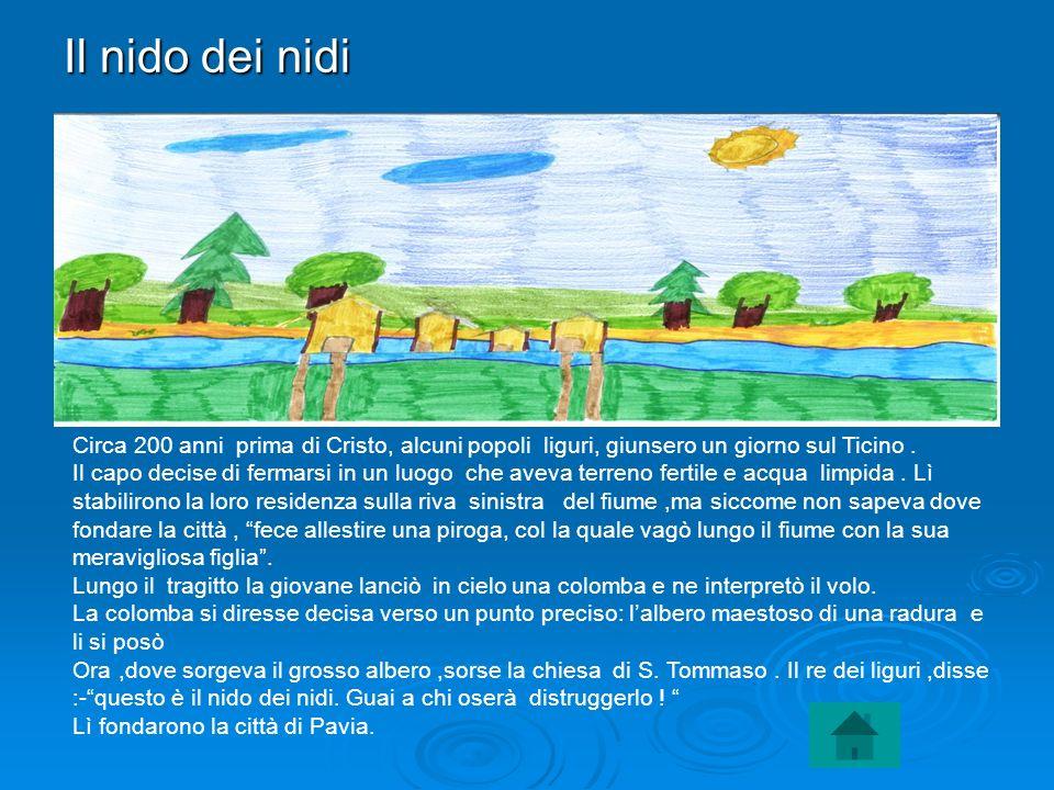 Il nido dei nidi Circa 200 anni prima di Cristo, alcuni popoli liguri, giunsero un giorno sul Ticino .