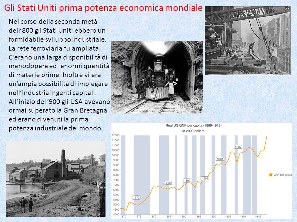 Gli Stati Uniti prima potenza economica mondiale