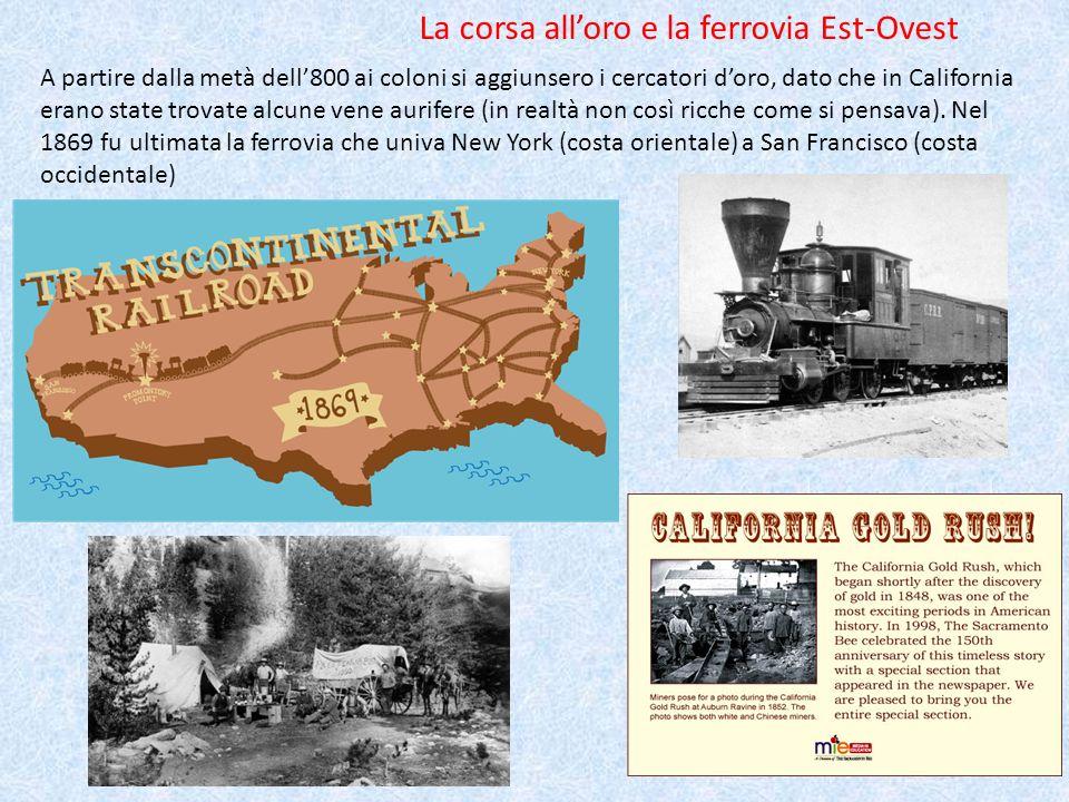La corsa all'oro e la ferrovia Est-Ovest