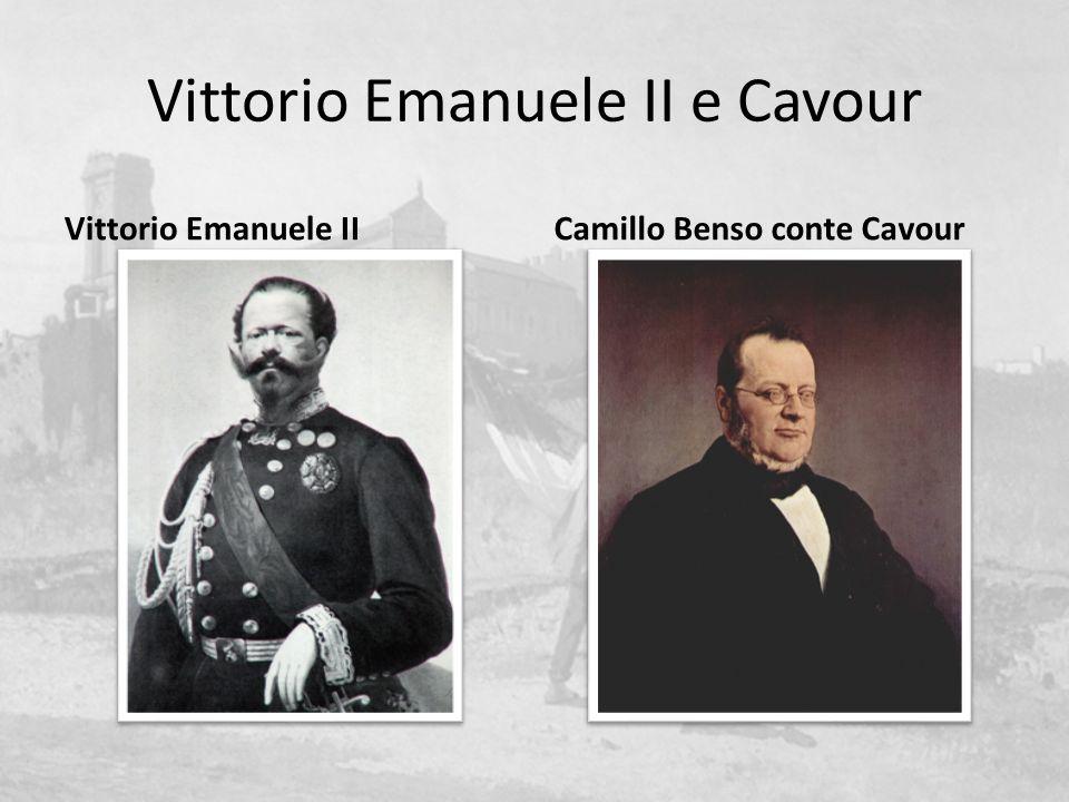 Vittorio Emanuele II e Cavour