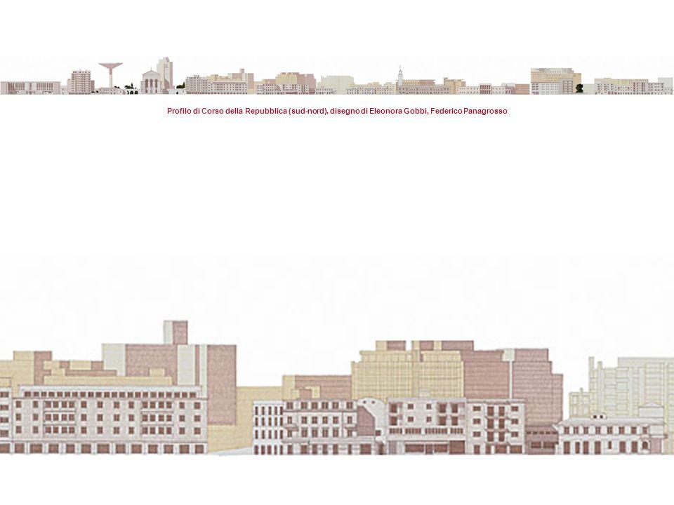 Profilo di Corso della Repubblica (sud-nord), disegno di Eleonora Gobbi, Federico Panagrosso