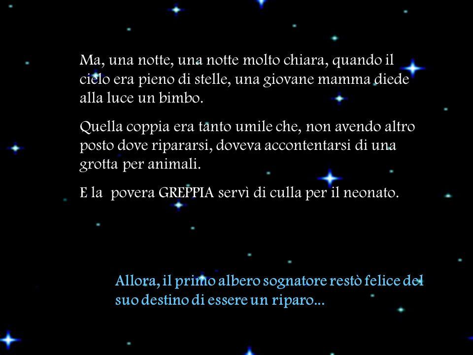 Ma, una notte, una notte molto chiara, quando il cielo era pieno di stelle, una giovane mamma diede alla luce un bimbo.