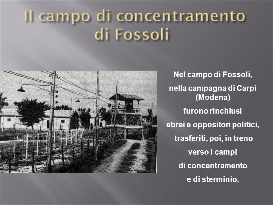 Il campo di concentramento di Fossoli