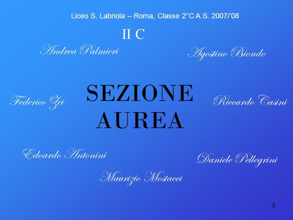 SEZIONE AUREA II C Andrea Palmieri Agostino Biondo Federico Zei