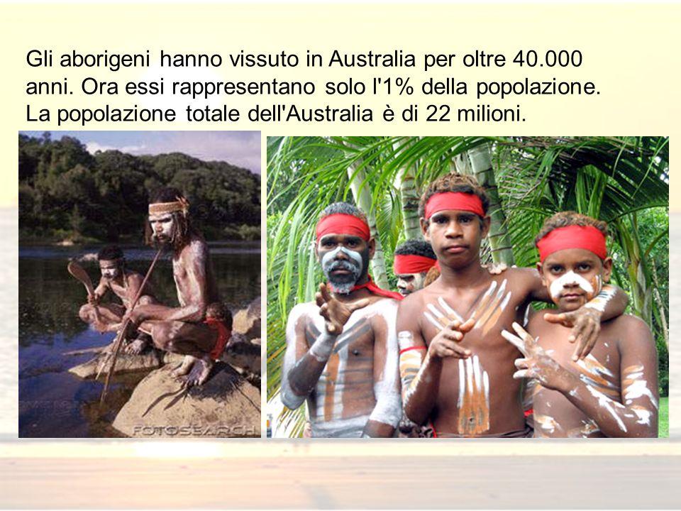 Gli aborigeni hanno vissuto in Australia per oltre 40. 000 anni