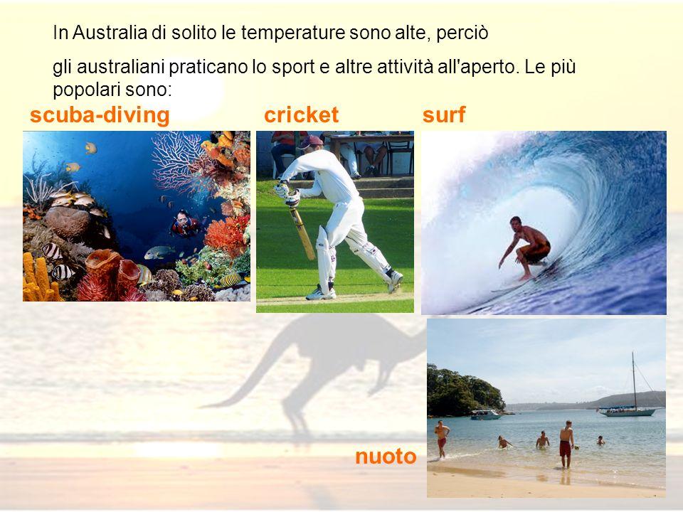 scuba-diving cricket surf nuoto
